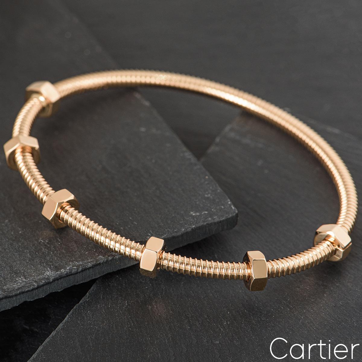 Cartier Rose Gold Ecrou De Cartier Bracelet Size 18 B6049518